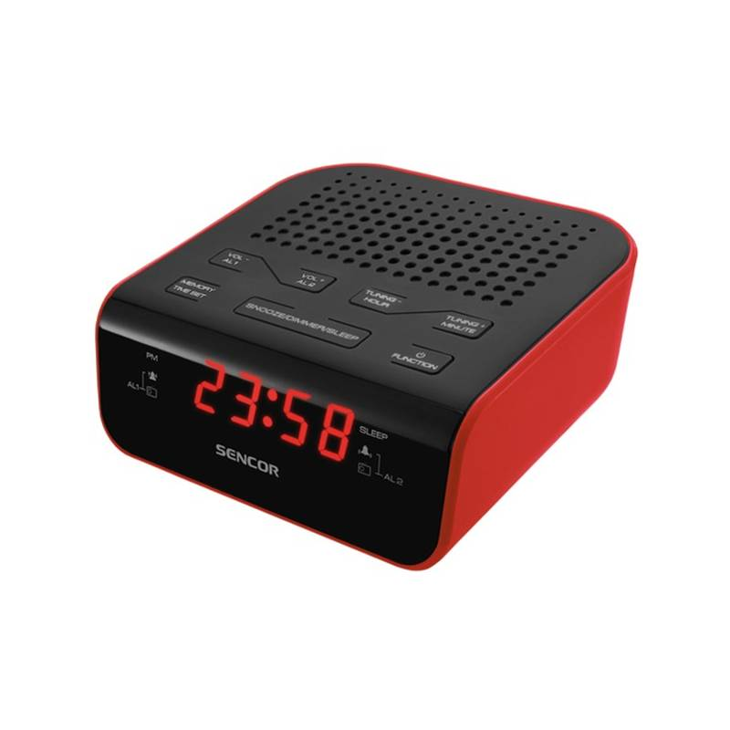 Rádiobudík Sencor SRC 136 RD čierny/červený