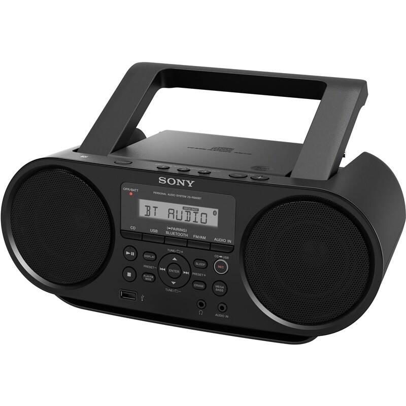 Rádiomagnetofón s CD Sony ZS-RS60BT čierny + Doprava zadarmo
