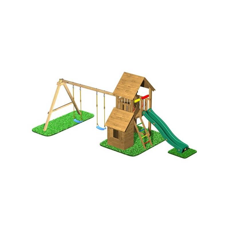 Detské ihrisko CUBS Honza 7 - věž s dvojhoupačkou a domečkem + Doprava zadarmo