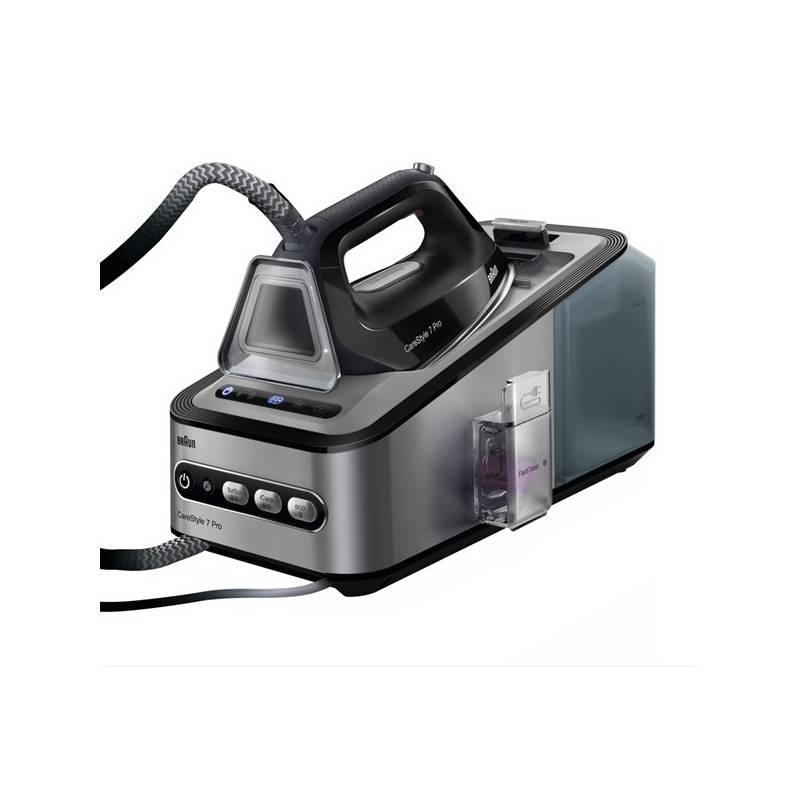 Žehliaci systém Braun CareStyle 7 Pro IS 7156 BK čierny/strieborný Žehliaca doska Braun IB3001BK + Doprava zadarmo