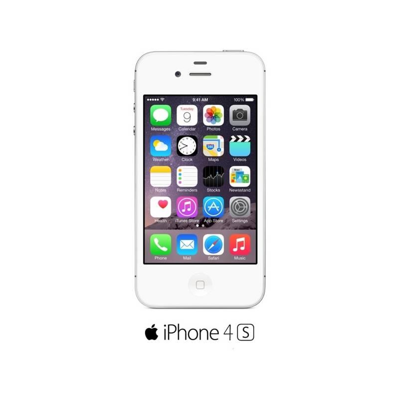 Mobilný telefón Apple iPhone 4S 8GB (MF266CS A) biely  1ed914b0029