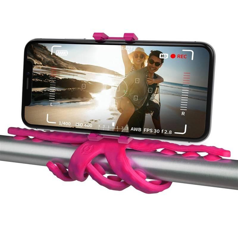 """Držák na mobil Celly Squiddy s přísavkami pro telefony do 6,2"""" (SQUIDDYPK) růžový"""