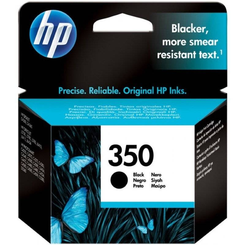 Cartridge HP No. 350, 4,5 ml - originální (CB335EE) čierna