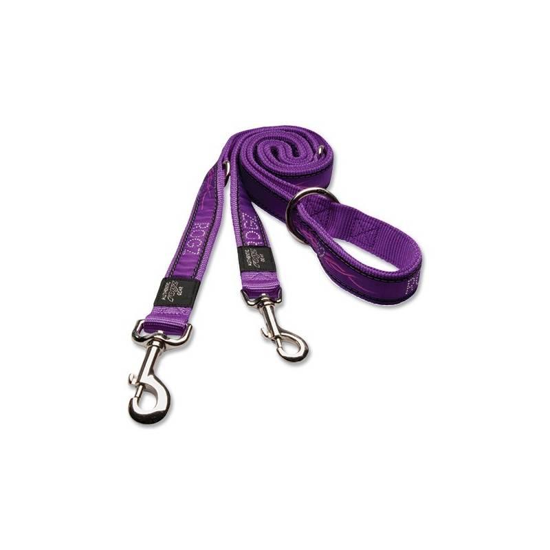 Vodítko Rogz přepínací ROGZ Fancy Dress Purple Chrome M