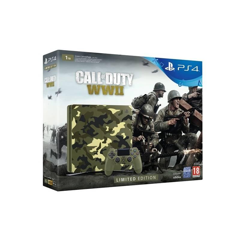 Herná konzola Sony PlayStation 4 SLIM 1TB + Call of Duty WW II + That's You - kamufláž (PS719943167) + Doprava zadarmo