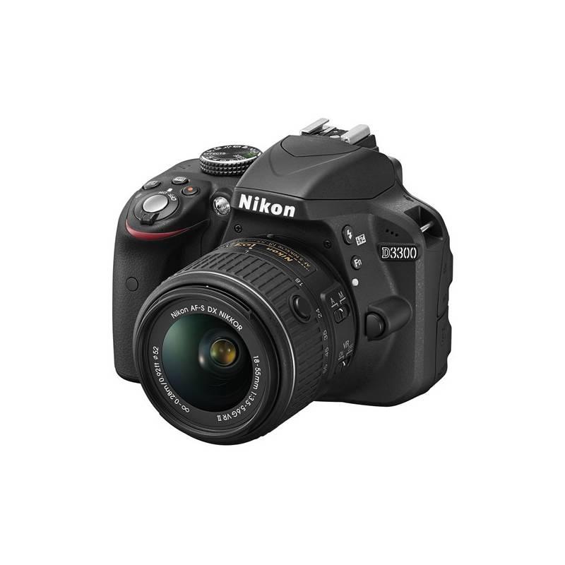 Digitálny fotoaparát Nikon D3300 + 18-55 AF-S DX VR II čierny + Doprava zadarmo