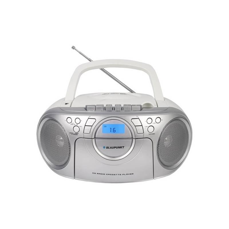 Rádiomagnetofón s CD Blaupunkt BB16WH strieborný/biely