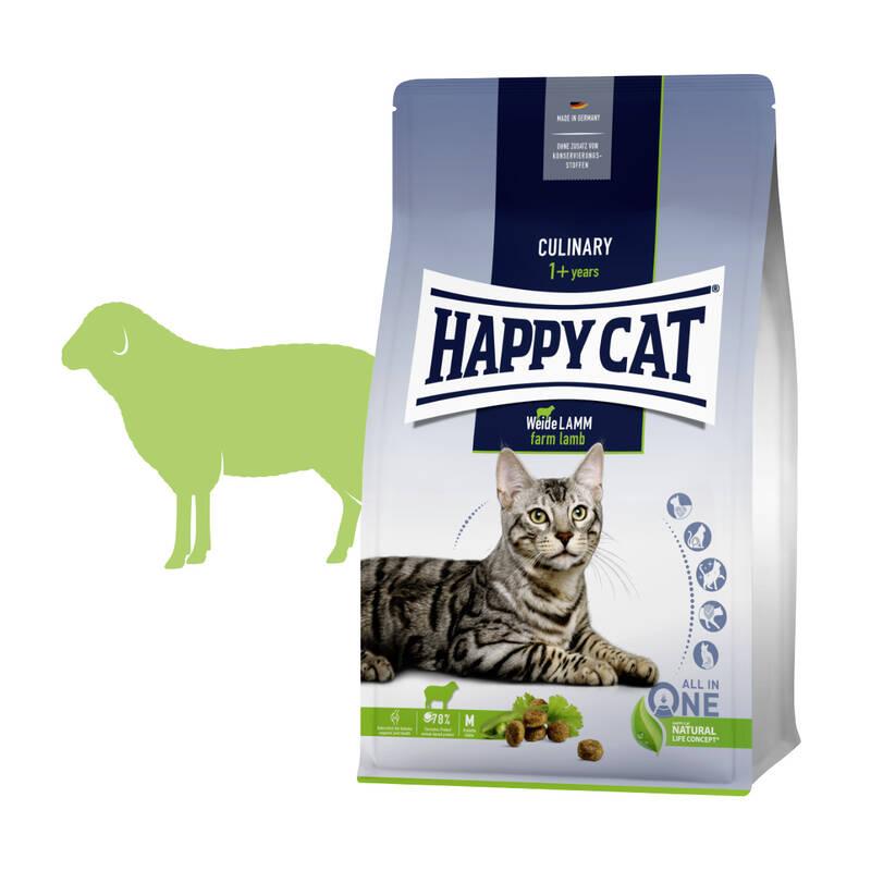 Granuly HAPPY CAT Culinary Weide-Lamm / Farmové jahňacie 10 kg + Doprava zadarmo