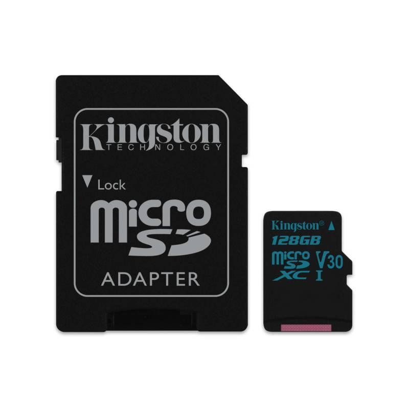 Pamäťová karta Kingston Canvas Go! MicroSDXC 128GB UHS-I U3 (90R/45W) + adapter (SDCG2/128GB)