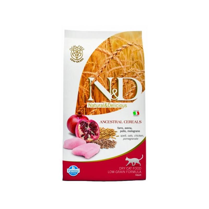 Granule N&D Low Grain CAT Adult Chicken & Pomegranate 10 kg