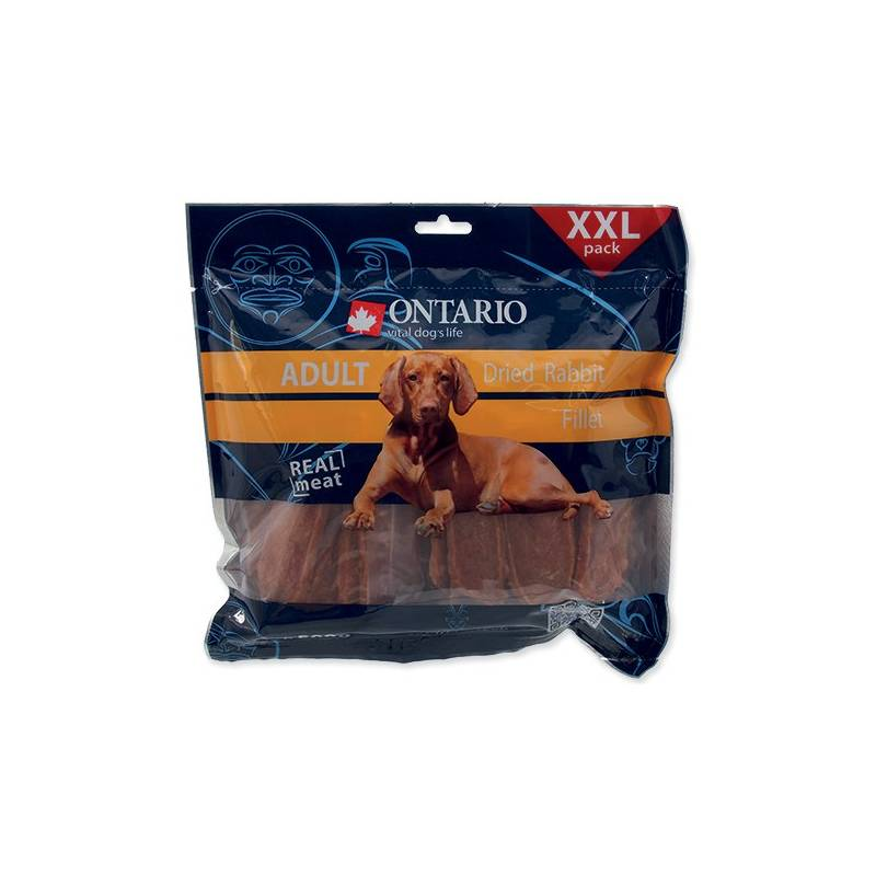 Pochúťka Ontario SnackAdult Dry Rabbit fillet 500 g