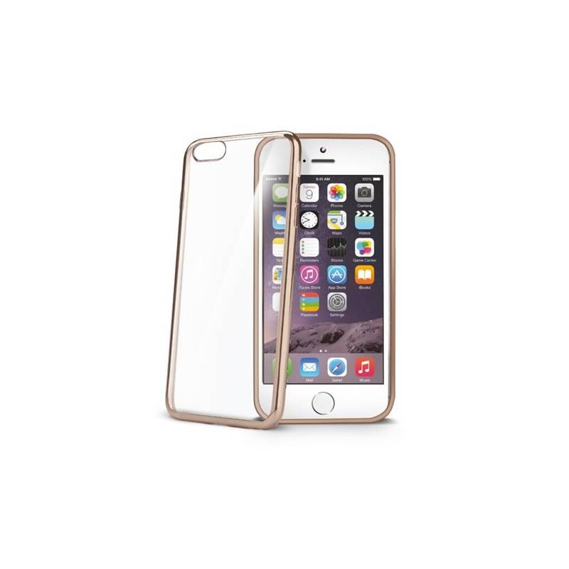 Kryt na mobil Celly Laser pro Apple iPhone 6/6S (BCLIP6SGD) zlatý