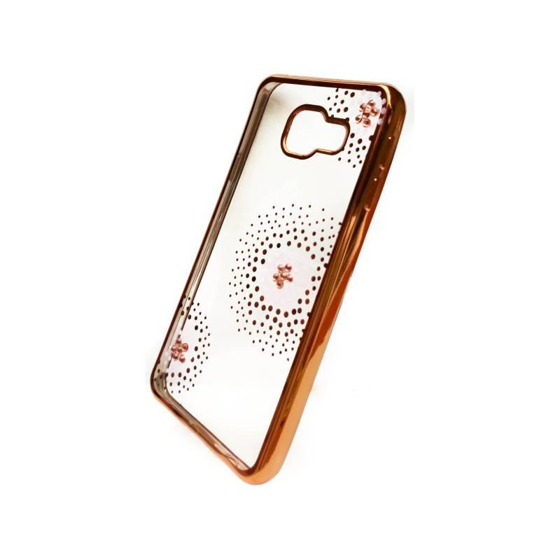 Kryt na mobil Beeyo Flower Dots pro Samsung Galaxy A3 (2016) (BEASAGAA32016TPUFLGO) zlatý