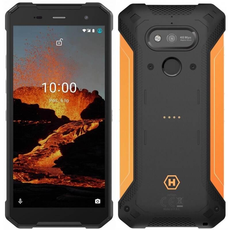 Mobilný telefón myPhone Hammer Explorer Pro (TELMYAHEXPLOPROOR) čierny/oranžový