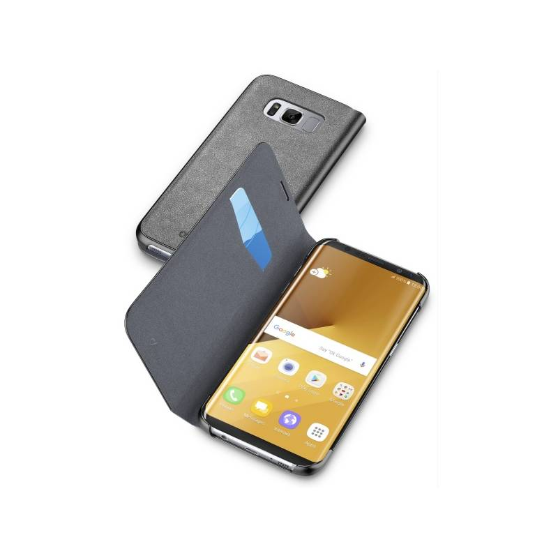 Puzdro na mobil flipové CellularLine Book Essential pro Samsung Galaxy S8+ (BOOKESSGALS8PLK) čierne