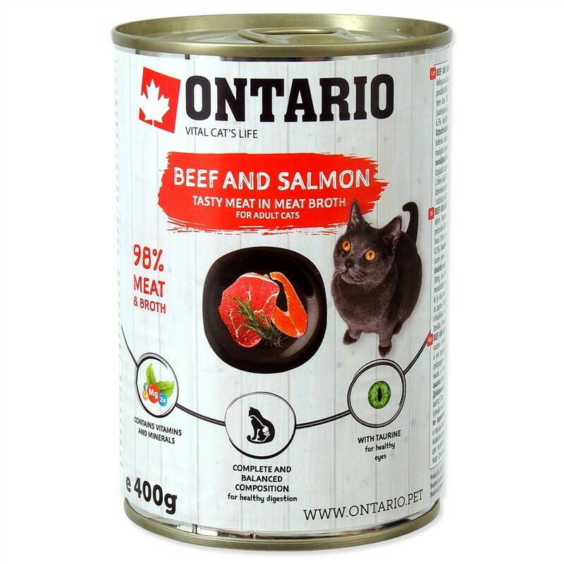 Konzerva Ontario Beef, Salmon,Sunflower Oil 400 g