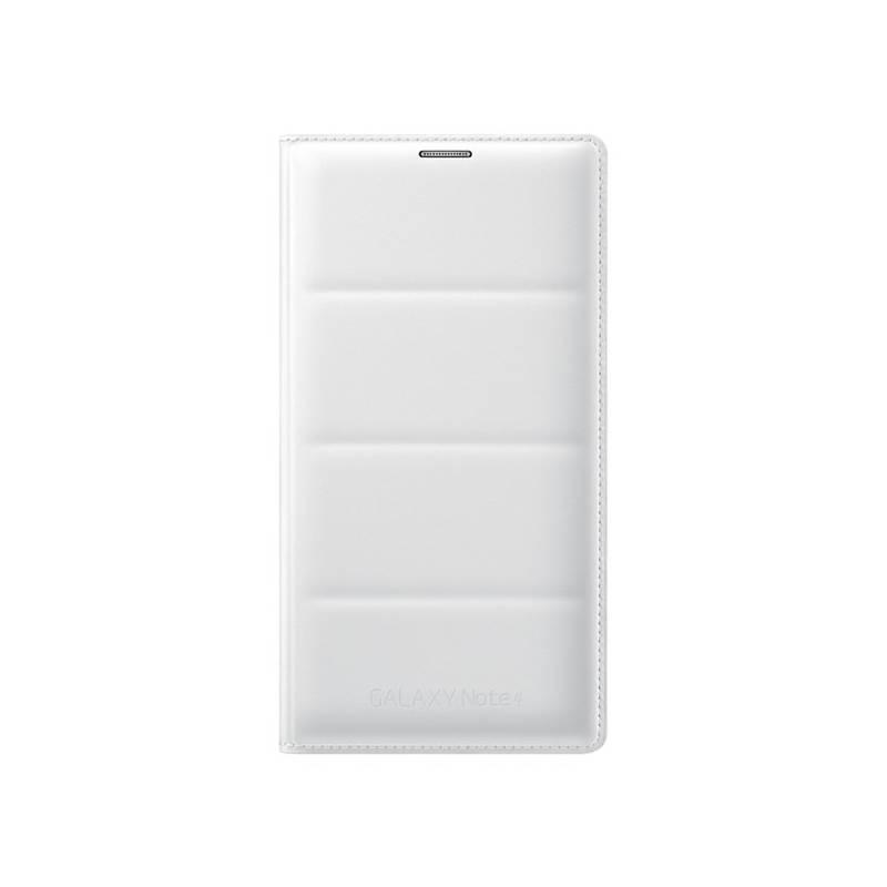 Puzdro na mobil flipové Samsung pro Galaxy Note 4 s kapsou (EF-WN910B) (EF-WN910BWEGWW) biele