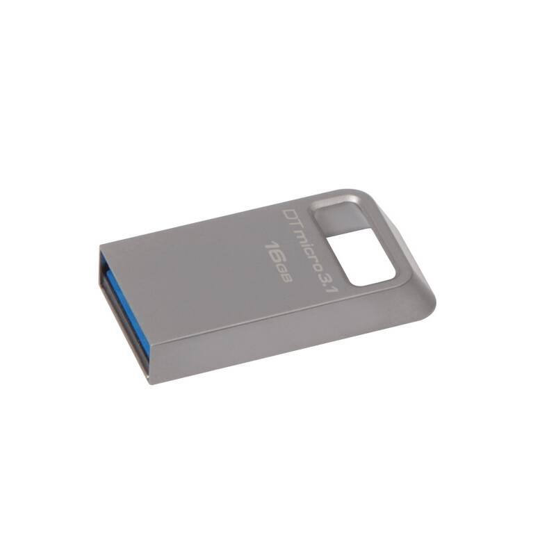 USB flash disk Kingston DataTraveler Micro 3.1 16GB (DTMC3/16GB) kovový
