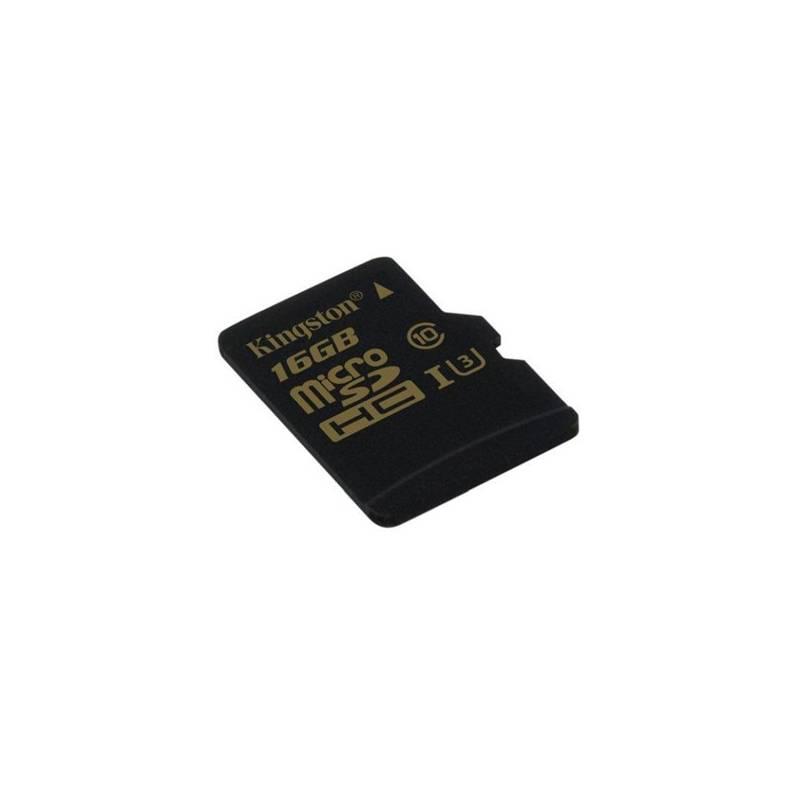 Pamäťová karta Kingston MicroSDHC 16GB UHS-I U3 (90R/45W) (SDCG/16GBSP) čierna