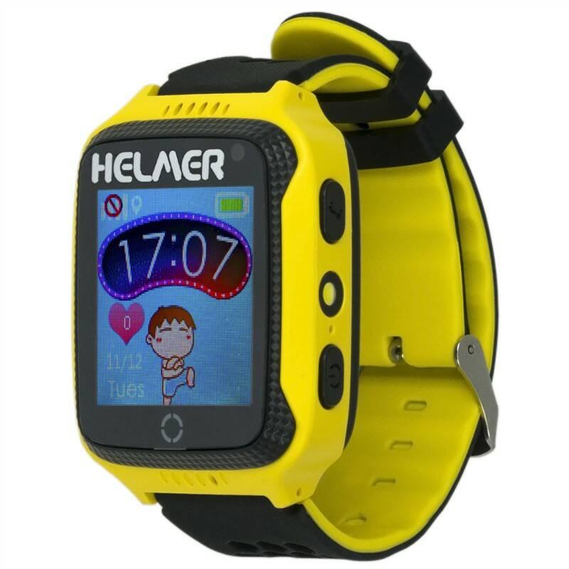 Chytré hodinky Helmer LK 707 dětské s GPS lokátorem (Helmer LK 707 Y) žlutý