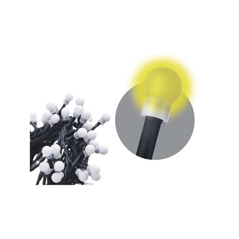 Vianočné osvetlenie EMOS 80 LED, kulička, 8m, řetěz, teplá bílá, časovač, i venkovní použití (1534090025)