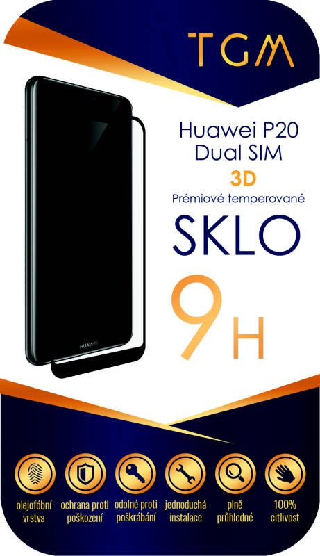 Ochranné sklo TGM 3D pro Huawei P20 Dual SIM (TGM3DHUAWP20DSBL) čierne
