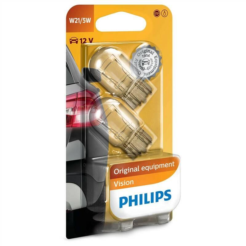 Autožiarovka Philips Vision W21/5W, 2ks (12066B2)