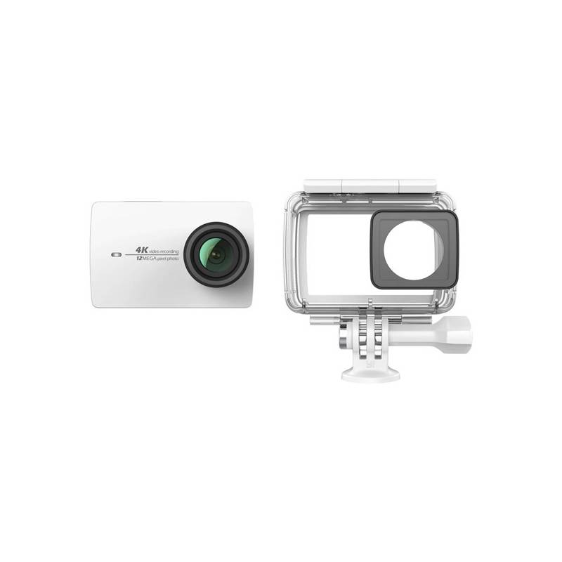 Outdoorová kamera Xiaomi YI 4K Action + voděodolný kryt (AMI304) bílá