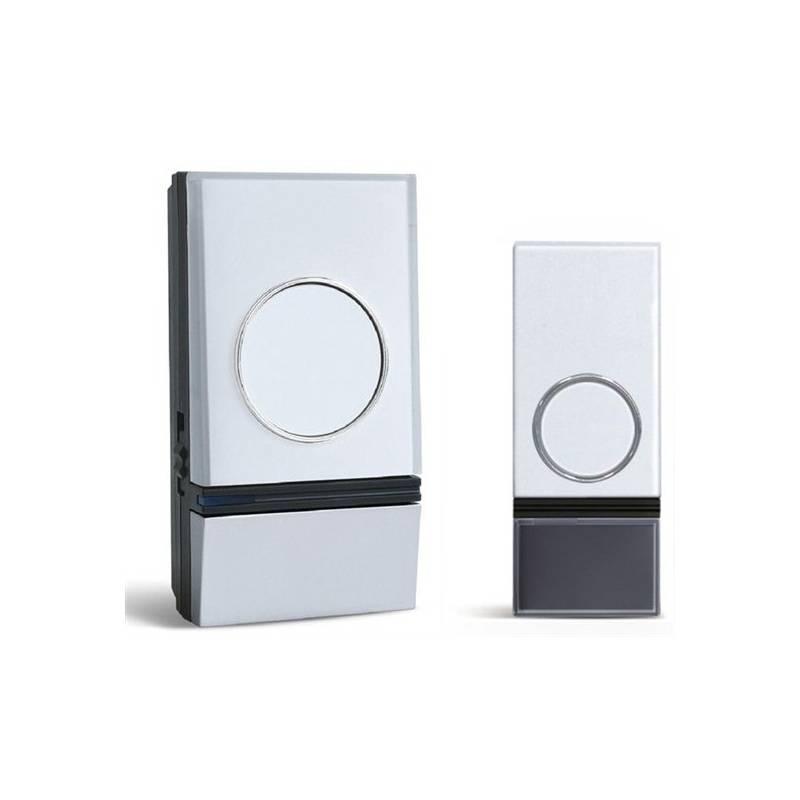 Zvonček bezdrôtový Solight 1L28, do zásuvky, 200m (1L28) strieborný/biely