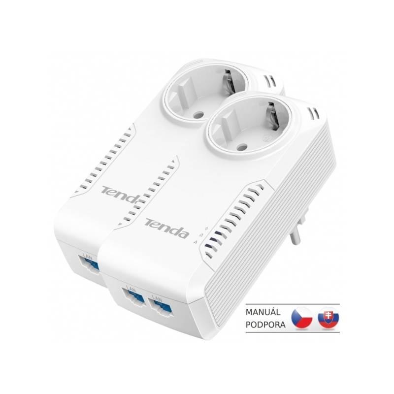 Sieťový rozvod LAN po 230V Tenda P1002P (P1002P) biely
