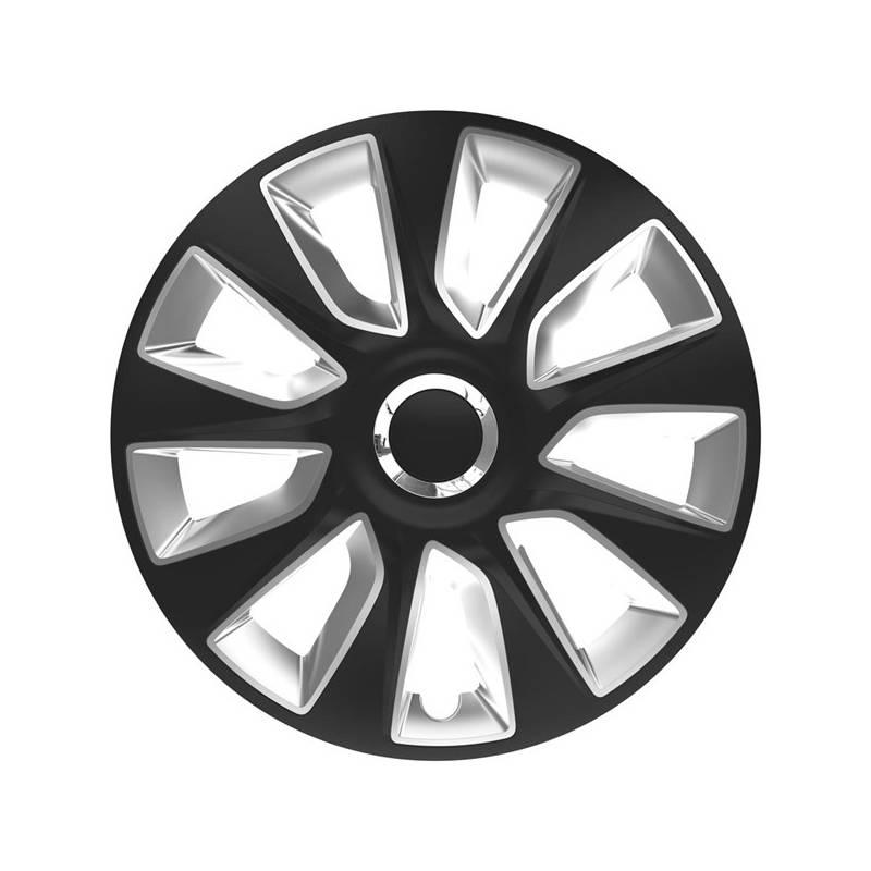 """Kryt kolies Versaco Stratos RC black/silver 16"""" sada 4ks (20016)"""