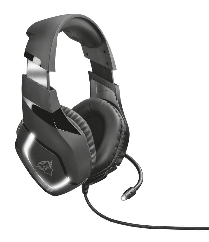Headset Trust GXT 380 Doxx Illuminated Gaming (22338) černý