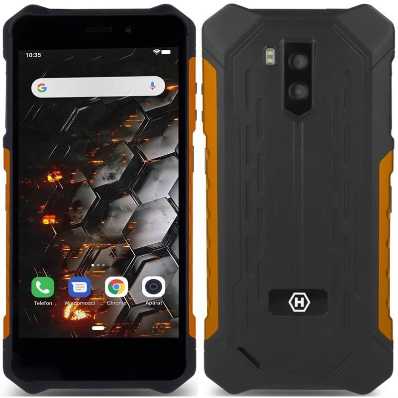 Mobilný telefón myPhone Hammer Iron 3 LTE (TELMYAHIRON3LOR) čierny/oranžový + Doprava zadarmo
