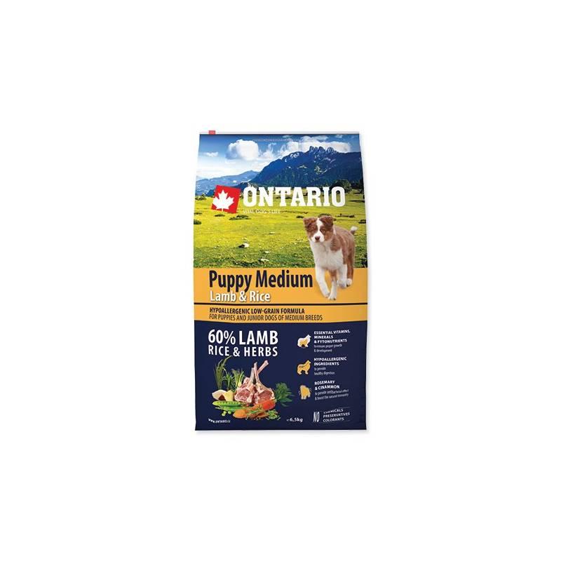Granule Ontario Puppy Medium Lamb & Rice 6,5kg