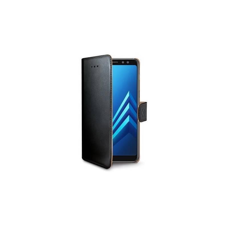 Puzdro na mobil flipové Celly Wally pro Samsung Galaxy A8+ (2018) (WALLY707) čierne