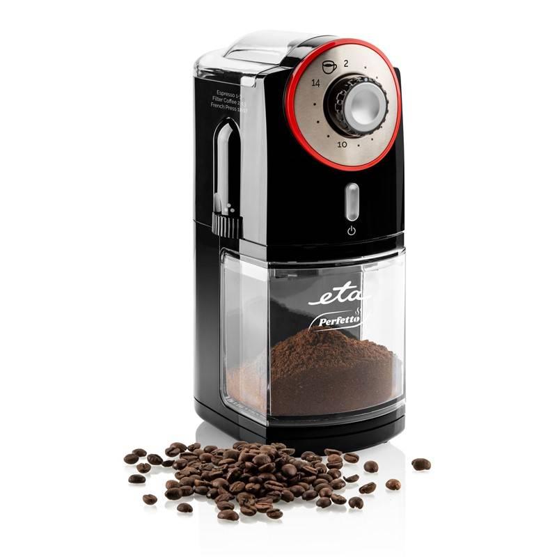Mlynček na kávu ETA Perfetto 0068 90000 čierny + Doprava zadarmo