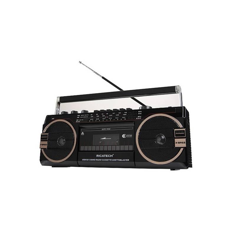 Radiomagnetofon Ricatech PR1980 Ghettoblaster černý