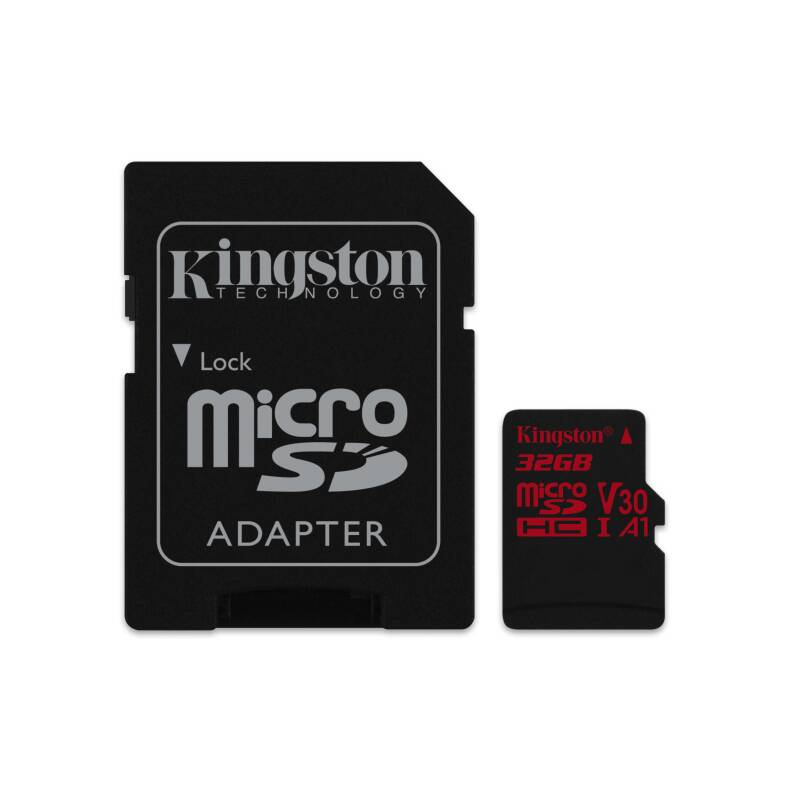 Pamäťová karta Kingston microSDHC 32GB UHS-I U3 (100R/70W) + adaptér (SDCR/32GB)