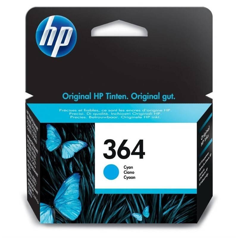 Inkoustová náplň HP No. 364, 300 stran - originální (CB318EE) modrá
