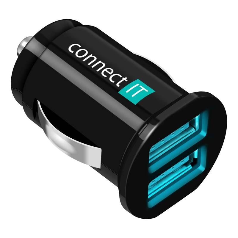 Adaptér do auta Connect IT 2x USB, 2.1A/1A (CI-176) čierny