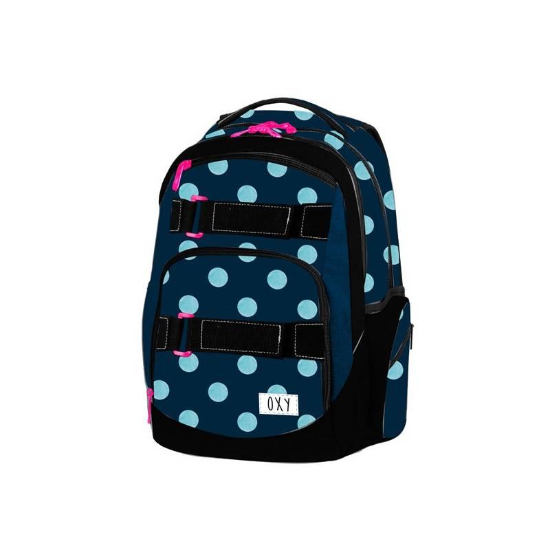 Batoh školský P + P Karton OXY Style Dots študentský Sáček na přezůvky P + P Karton OXY Neon Dark Blue (zdarma)