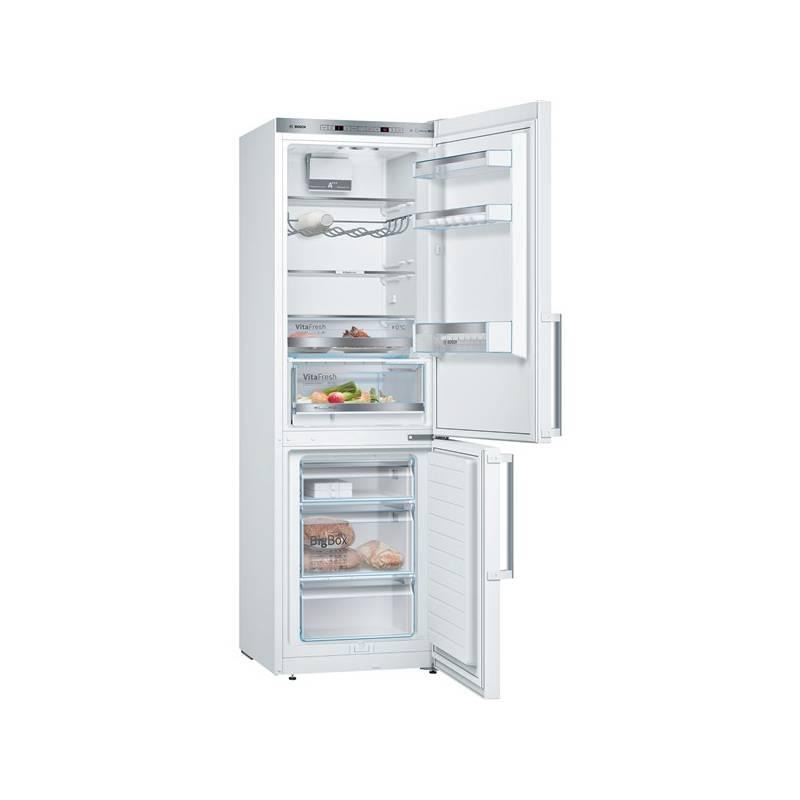 Kombinácia chladničky s mrazničkou Bosch KGE366W4P biela + Doprava zadarmo
