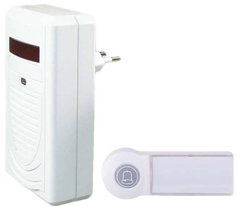 Zvonček bezdrôtový EMOS 98080S, do zásuvky, 60m (98080S) biely