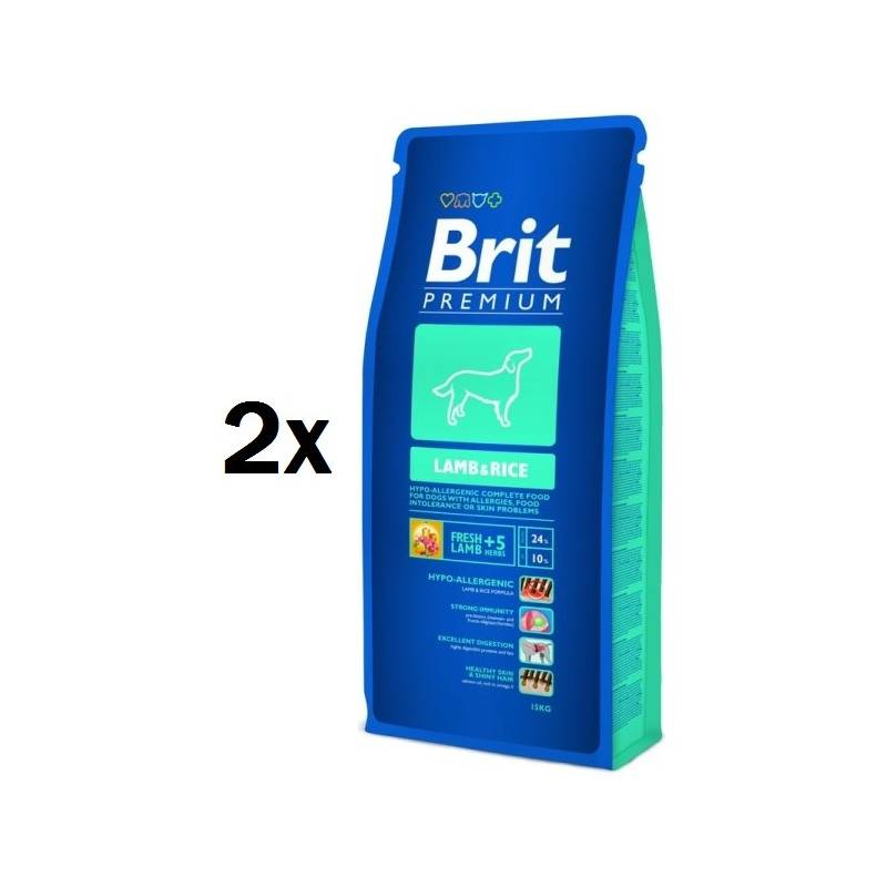 Granule Brit Premium Dog Lamb & Rice 2 x 15 kg