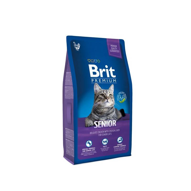 Granuly Brit Premium Cat Senior 8kg
