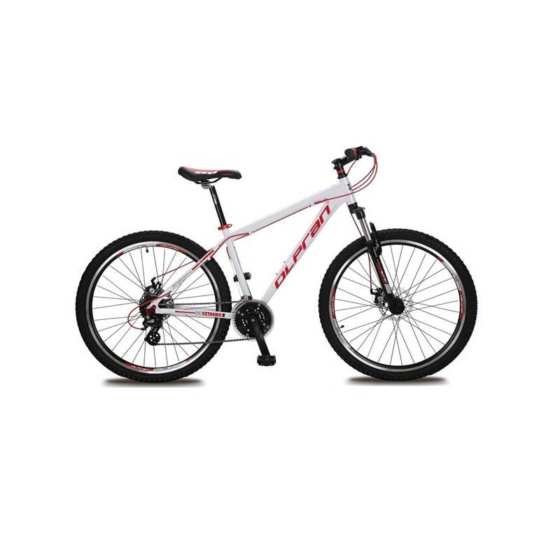 """Horský bicykel Olpran EXTREME DISK 27,5"""" biele/červené Sada cyklodoplňků (zvonek+blikačka+světlo) pro kolo dospělé (zdarma) + Doprava zadarmo"""