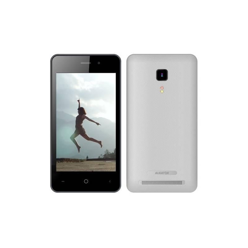 Mobilný telefón Aligator S4080 Dual SIM (AS4080SR) strieborný