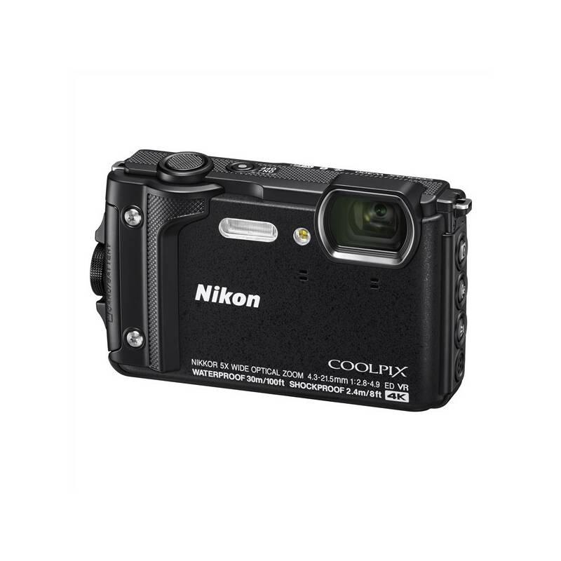 Digitálny fotoaparát Nikon Coolpix W300 + 2 v 1 plávací popruh čierny + Doprava zadarmo