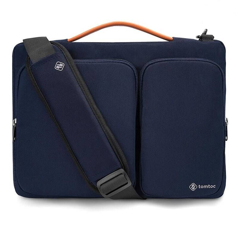 """Brašna na notebook tomtoc Messenger na 16"""" MacBook Pro 2019 (TOM-A42-E02B01) modrá + Doprava zadarmo"""