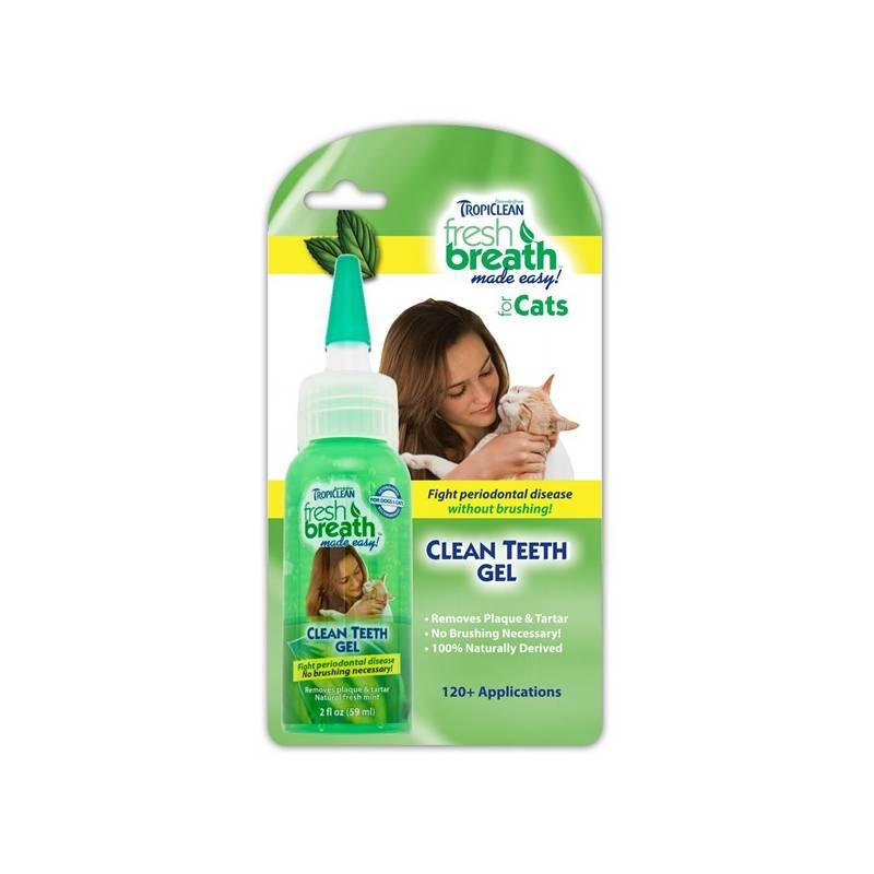 Gél Tropiclean Clean Teeth čistící gel na zuby pro kočky 59ml